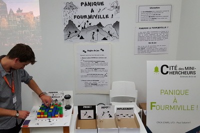 Game Panique à Fourmiville!, at the European Researchers' Night of Toulouse, with Rémi Gouttefarde